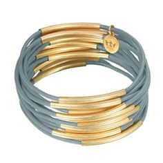 Deense Kroon sieraad genaamd Sence CPH Gipsy zee blauw armband goud