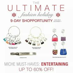 Day 6- Miche Shopportunity.  Visit my site for prices or send me a pm.                                              https://sandrasgotmy.miche.com Attach your order to the November party.