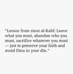 Lessons from surat Al Kahaf.. Al Quran