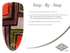 African squares step-by-step Bio Sculpture Nails, Sculpting Gel, Nail Art Brushes, Nail Art Galleries, Art Tutorials, Fun Nails, Hot Chocolate, Nail Art Designs, Squares