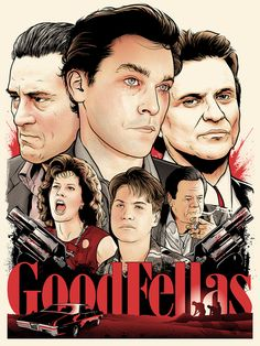 "Joshua Budich - ""Goodfellas"" limited edition screen print signed and numbered edition of 150 18"" x 24"" This artwork was created for ""Scorsese: an art show tribute"" an art show exhibition of fan art, h"