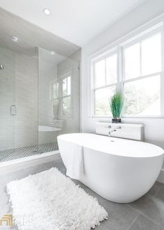 420 Montevallo Dr, Sandy Springs, GA 30342 Source by charlesabrown Stand Alone Bathtubs, Stand Alone Tub, Modern Master Bathroom, Small Bathroom, Grey Bathroom Floor, Bathroom Tubs, Modern Bathtub, Concrete Bathroom, Master Bathrooms