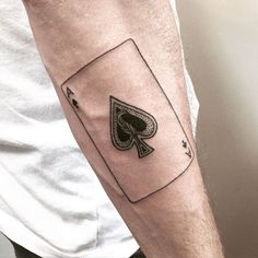 ♠️Ace of Spades♠️ #stickandpoke @martlettattoo