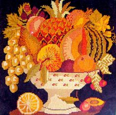 Elizabeth Bradley The Bowl of Fruit From by MyStitchingGarden