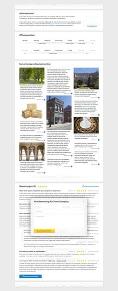 Partly redesgin of Stadtbranchenbuch Companies Detailview by Trueart