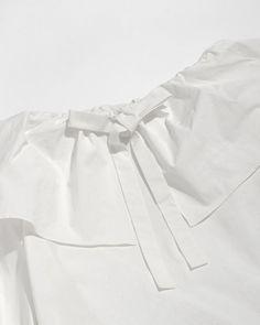 Rejina Pyo Clara Off-Shoulder Blouse in Off-White   The Dreslyn