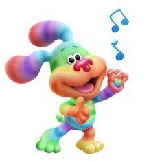 Cartoon News, Blues Clues, New Puppy, Season 3, Say Hello, New Friends, Rainbow Colors, Dinosaur Stuffed Animal, Puppies