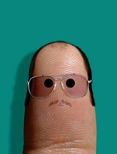 Creative art   #funny #fingerpeople #fingerart