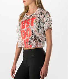 Women's Nike Printed Cropped Just Do It T-Shirt