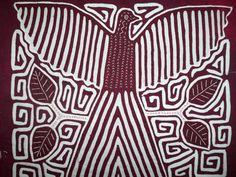 Kuna Indian Tribe Thunderbird Mola Panama San Blas-12.62147