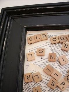 DIY Magnetic Scrabble board. Would be great for a spelling station in a classroom (or as a piece of decor for the home)!