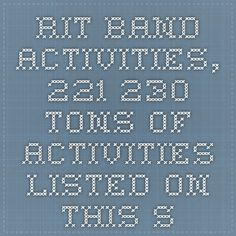 RIT Band Activities, 221-230. TONS of Activities listed on this school's website- just scroll to the RIT section & click to follow the links