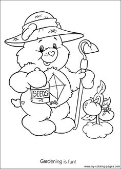 best care bear coloring pages - photo#36