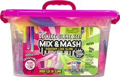 Get the creative fun going with the Mix and Mash Deluxe Slime Kit Caddy. Lots of bright colors and great for sharing and having fun at home. Vídeos Slime, Slime Craft, Slime Kit, Diy Slime, Cotton Candy Slime, Colorful Slime, Perfect Slime, Types Of Slime, Nails For Kids