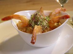 Shrimp and Banana~soy sauce~lime~cilantro~garlic~honey