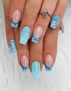Bright Summer Acrylic Nails, Best Acrylic Nails, Summer Nails, Cute Nail Designs, Acrylic Nail Designs, Disney Nail Designs, Shellac Nail Designs, French Tip Nail Designs, Nagellack Design