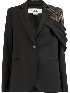 Blazer Outfits, Blazer Fashion, Casual Blazer, Fashion Details, Fashion Design, Black Blazers, Mode Outfits, Mantel, Fashion Dresses