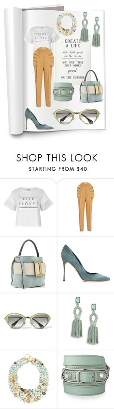 """""""Pre #fall17 #trend styled by style therapy coach"""" by styletherapycoach ❤ liked on Polyvore featuring River Island, Delpozo, Sergio Rossi, Miu Miu, Oscar de la Renta, Kenneth Jay Lane and Balenciaga"""