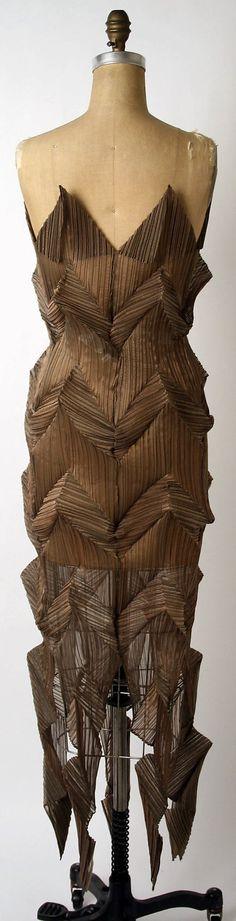 Issey Miyake  (Japanese, born 1938)   synthetic, 1991, evening dress
