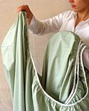 Fold a Fitted Sheet - Martha Stewart Homekeeping Solutions King Size Sheets, Bed Sheets, Folding Fitted Sheets, Sheet Storage, Martha Stewart Home, Linen Closet Organization, Organization Ideas, Closet Storage, Storage Ideas