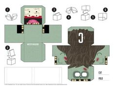 Blog_Paper_Toy_Paper_Desk_Toys_Creativello_zombie_template_preview