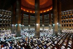 First day of Ramadan at Istiqlal mosque in Jakarta