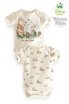 Buy Winnie The Pooh Bodysuits Two Pack (0-18mths) from the Next UK online shop