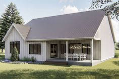 The idea of ​​a modern house Kleines modernes Bauernhaus plant Luxus Obstgarten Hill Rear Xl Metalld Farmhouse Floor Plans, Modern Farmhouse Exterior, Farmhouse Style, Farmhouse Decor, Simple Farmhouse Plans, Farmhouse Kitchens, Cottage Farmhouse, House Plans One Story, New House Plans