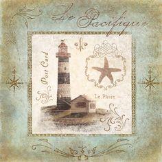 RB5082MC  Coastal Lighthouse I  12x12