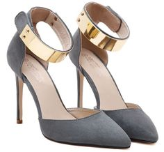 Size 4~9 Golden High Heels Women Pumps Summer Casual Black Women Shoes zapatos mujer (Chenk Foot Length) alishoppbrasil