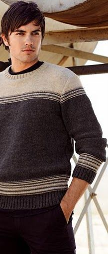 5073 - Everything About Knitting Mens Winter Sweaters, Men Sweater, All Free Knitting, Mens Fall, Knit Fashion, Knitting Designs, Sweater Outfits, Knitwear, Album