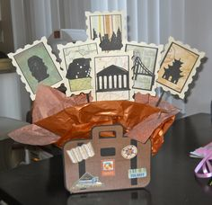 Travel Themed Centerpiece for a Retirement Party