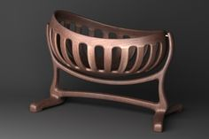 Baby Sculpted Cradle handmade by Scott Morrison