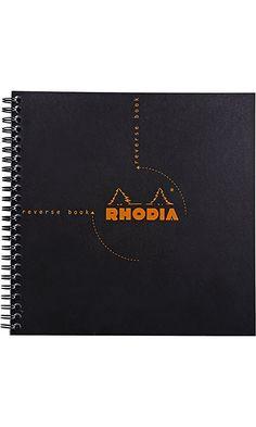 Rhodia Graph Reverse Standard Notebook, One Notebook, Black Best Price