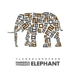 Image result for Typographic Elephant Design