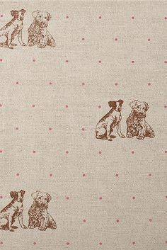 Emily Bond Pink Terrier Spot Linen Union. This is adorable