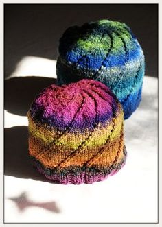 Free Knitting Pattern - Hats: Noro spiral one-skein hat  I LOVE the colors and simplicity of this hat. The pattern is also a fun read.