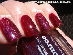 piCture pOlish 'Monroe' reborn comparison swatch with old! More sparkle even easier to apply!