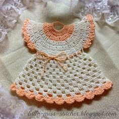 FREE PATTERN ~ C ~ Little Miss Stitcher: Vintage Crocheted Dress Potholder