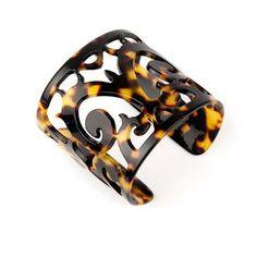 Wide Scroll Cuff Bracelet in Tokyo by Bellissima