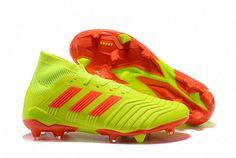 bdd19ea64e57 FIFA World Cup Russia 2018 Mens Adidas Predator 18 1 FG Boots Lemon Yellow  Varsity Red