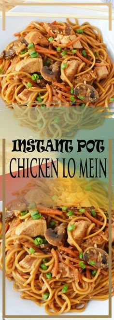 INSTANT POT CHICKEN LO MEIN RECIPE Easy Chicken Recipes, Asian Recipes, Crockpot Recipes, Slow Cooker Recipes, Cooking Recipes, Keto Recipes, Healthy Recipes, Slow Cooker Pressure Cooker, Instant Pot Pressure Cooker