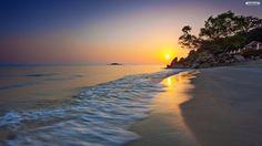 Stunning Beach Sunset Wallpaper