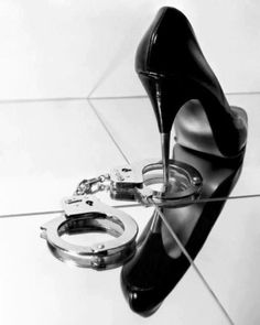 Love this shot- future police wife - except with my wedding shoes!!