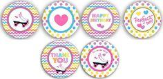 Patín cumpleaños partido partido cumpleaños por bebaboo en Etsy