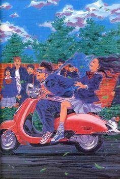 """""""Slam Dunk Illustrations by Takehiko Inoue """" Slam Dunk Manga, Manga Art, Anime Manga, Inoue Takehiko, Miyagi, Manga Illustration, Slammed, Illustrations Posters, Book Art"""