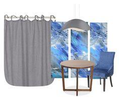 """Untitled #20"" by squirreldaria on Polyvore featuring interior, interiors, interior design, home, home decor, interior decorating, LINUM and Sonneman"