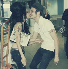 Amy Winehouse & Blake Fielder-civil | Love is a losing game - What a cool couple #love #couple