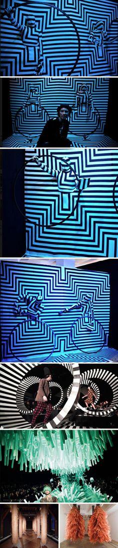 Henrik Vibskov, performance art, cool installations, graphic stage sets, avant garde fashion shows, avant garde art installations, wacky, fu...