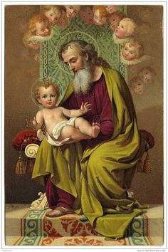 St. Joseph and the Christ Child with Cherubim